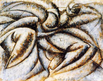 Dynamism of the human body, Umberto Boccioni