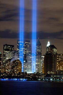 9/11 Tribute Lights, New York