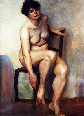 Female Nude by Lovis Corinth