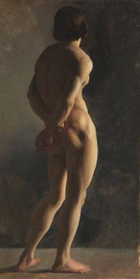 Male nude seen from behind