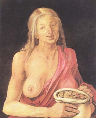Old with purse 1507 by Albrecht Durer