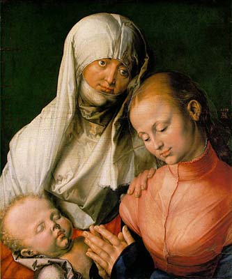 The virgin and child with st anne, Albrecht Durer