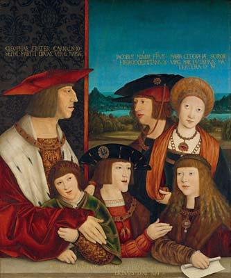 Emperor Maximilian I with His Family