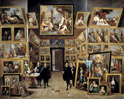 The archduke Leopold Wilhem in his paintings gallery in Brussels