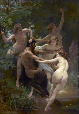 Nymphs and satyre