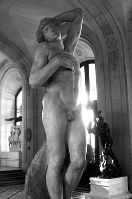 Michelangelo - dying slave sculpture louver, Paris