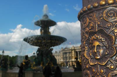 Place de la concorde lampost Paris
