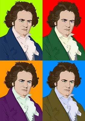 Beethoven Classical Music Pop Art