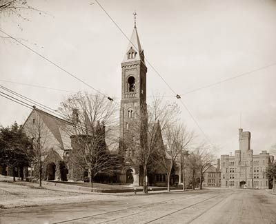 Central Church and Armory, Worcester Massachusetts 1906