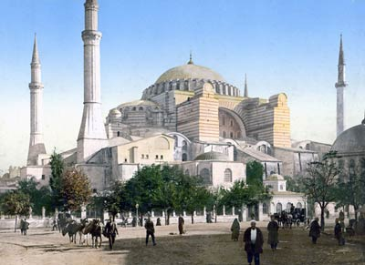Mosque of St. Sophia, Istanbul, Turkey, 1890's