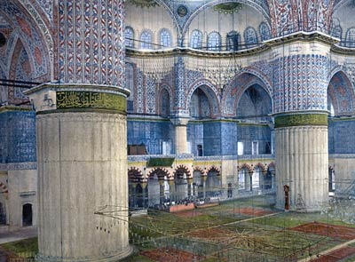 Mosque Interior, Sultan Ahmet Istanbul, Turkey