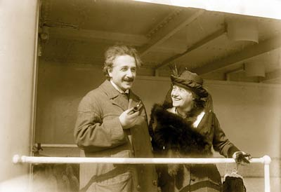 Albert Einstein with his Wife
