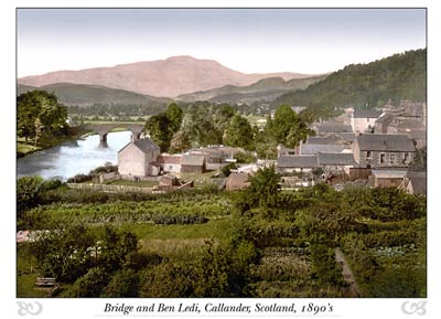 Bridge and Ben Ledi, Callander, Scotland