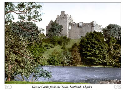 Doune Castle from the Teith, Scotland