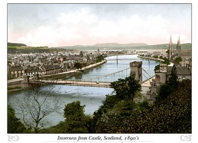Inverness from Castle, Scotland
