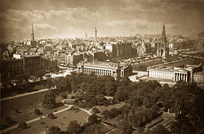 Edinburgh. Princes Street, from the Castleold victorian photo