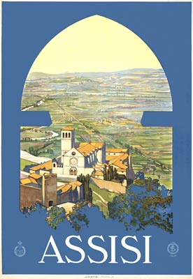 Assisi. Holiday Tourist Poster