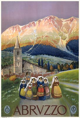 Abruzzo, Italy Tourist Holiday Poster 1920