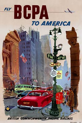 Fly BCPA to America Tourism poster