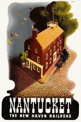 Nantucket - New Haven Railroad Travel Poster