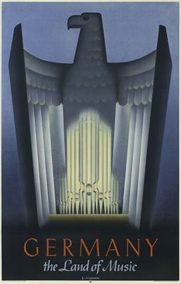Germany, the land of music travel poster