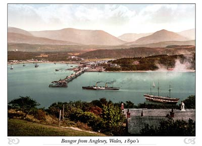 Bangor from Anglesey, Wales