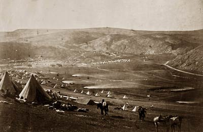 Cavalry camp, church parade plains of Balaklava Crimean War