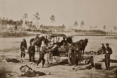 Ambulance drill Army Headquarters Potomac Civil War 1864