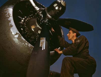 A-20 Bomber, Y1B-17 engine, Virginia 1942