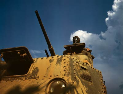 Tank sky and clouds, Fort Knox June 1942