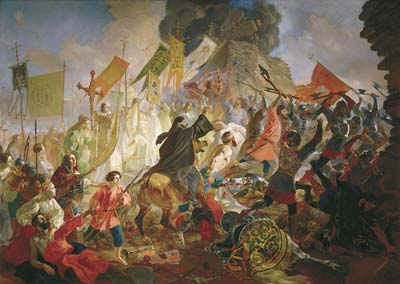 Siege of pskov by polish king stefan batory in 1581