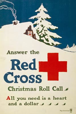 Red Cross Christmas roll call - World War I Poster