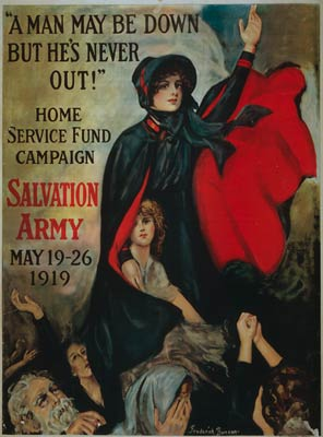 A man may be down but he's never out WWI Poster