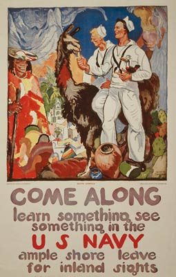 Sailors in South America - World War I Navy Poster
