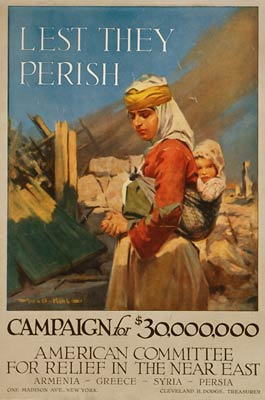 Relief in Near East Armenia Greece Syria Persia WWI Poster