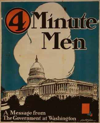 4 minute men Washington Committee - World War I Poster