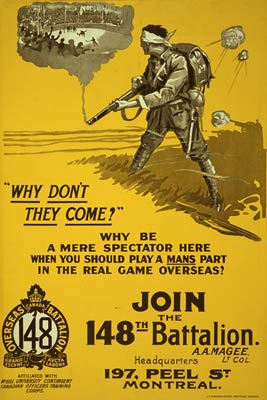 Join the 148th Battalion Canada WWI Poster