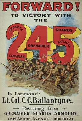 245 Overseas Canadian Grenadier Guards Battalion Poster