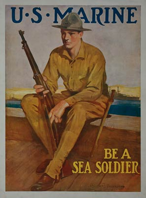 US Marine - Be a sea soldier - World War I Poster