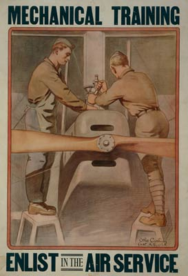 Mechanical training - Enlist in the Air Service War Poster