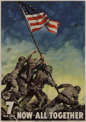 7th War Loan, now all together, WWII Poster