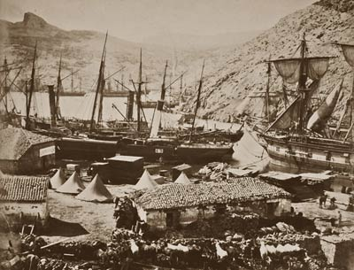 Cossack Bay, Balaklava harbor ship from Crimean War