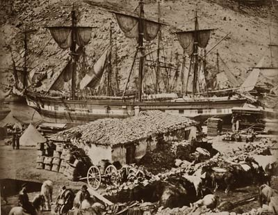 Balaklava harbour, the cattle pier 1855 Crimean War