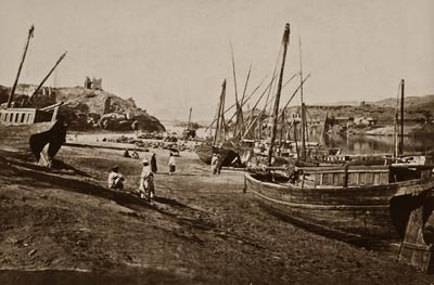 Assouan, port Aswan Egypy by Francis Frith 1862