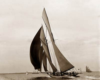 Colonia Schooner, Yacht July 24th 1897.