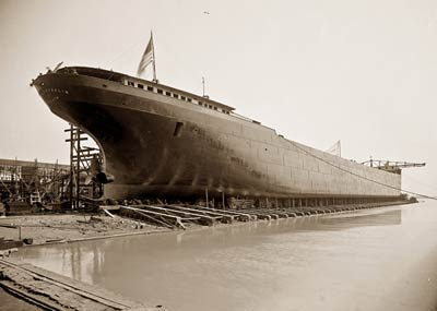 S.S. James Laughlin Freighter Cargo Ship before launch 1906