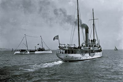 Revenue cutter Morrill and Pathfinder steam yacht 1901
