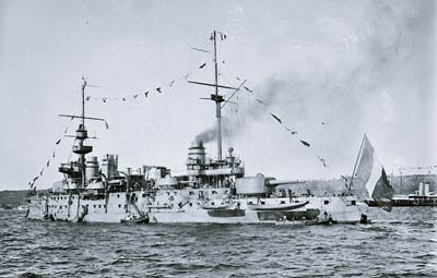 French Navy pre-dreadnought battleship Justice