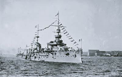 Battleship Justice French Navy ship