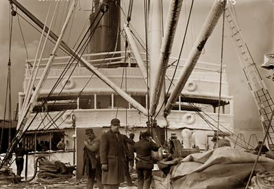 Crew on deck of the Orotava ship